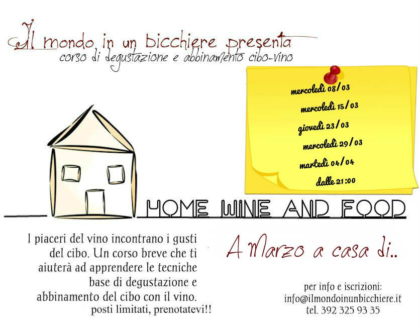 Home Wine and Food – 6 e 11 dicembre 2017